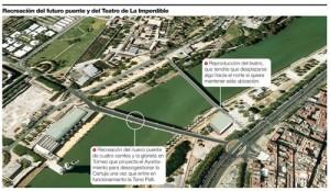 Recreación del proyecto de nuevo puente. Fuente El Correo de Andalucía