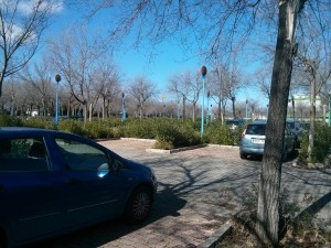 Aparcamientos en la Cartuja: bolsa de aparcamiento vacía Febrero de 2014