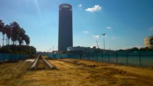 Obras en la Torre Pelli