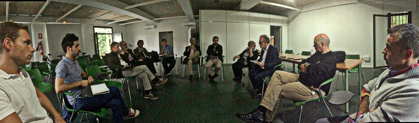 Reunión en el Aula Bioclimática