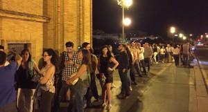 Colas registradas en el Castillo de San Jorge en la última edición de la Noche en Blanco / José Carlos González