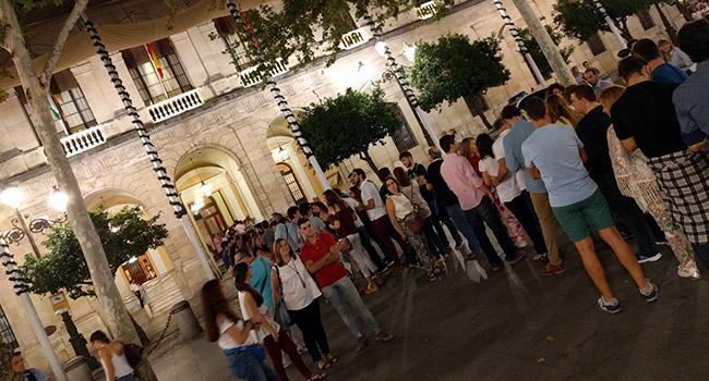 El Ayuntamiento en la Noche en Blanco - Foto: Álvaro Ceregido/Sevilla Actualidad