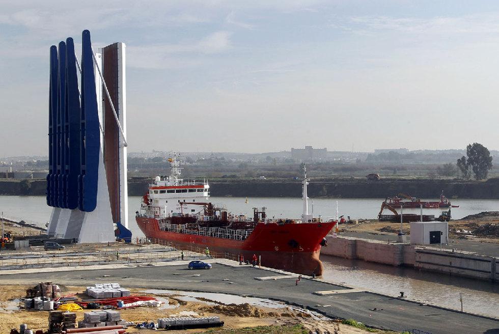 Nueva esclusa del Puerto de Sevilla