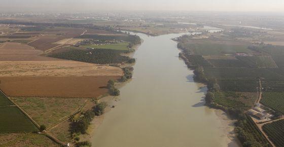 Vista aérea del Guadalquivir