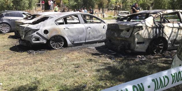 Coches de Cabify quemados intencionadamente
