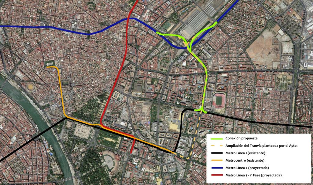 Red Metro Propuesta (vista satélite)
