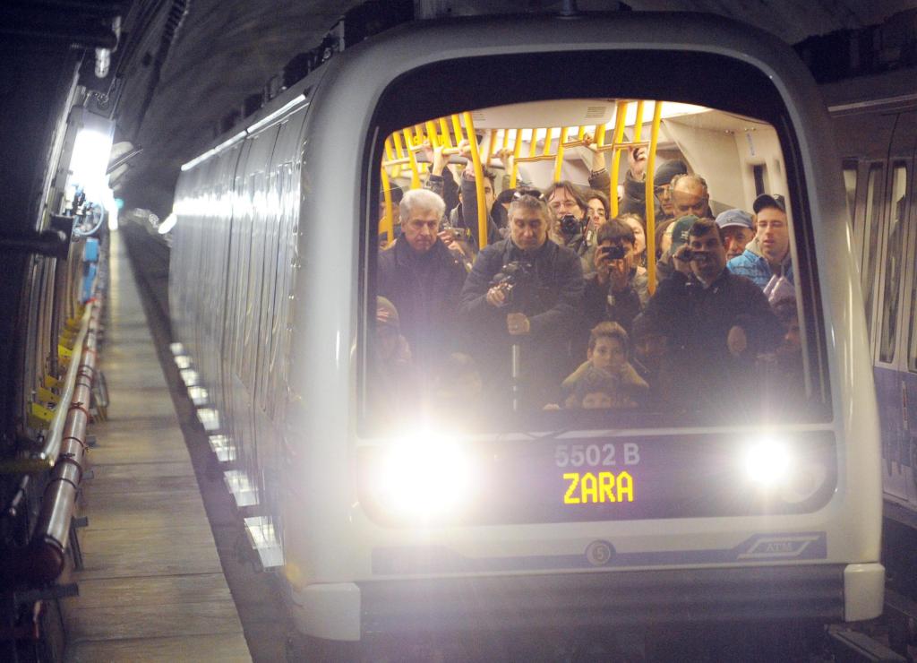 Metro sin conductor en la línea 5 del Metro de Milán. Imagen: gazzettadelsud.it