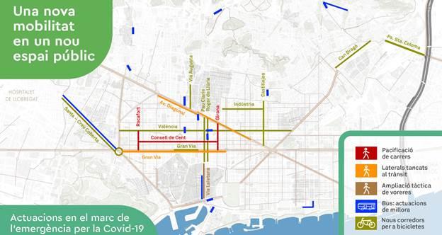 """""""Una nueva movilidad en un nuevo espacio público"""", plan del Ayuntamiento de Barcelona."""
