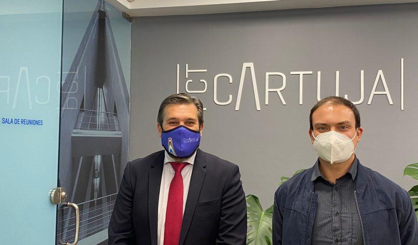 Luis Pérez y Manbuel Fernández tras la reunión